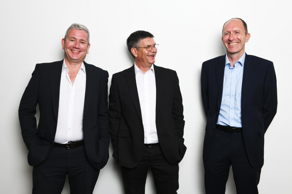 Quantex Consulting's Stratford Office Team including Rob Woodbine, Andy Coombe and Alex Kennedy